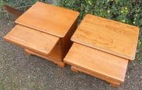 SOLD - Pair Cherry Wood Bedside Cabinets by Younger
